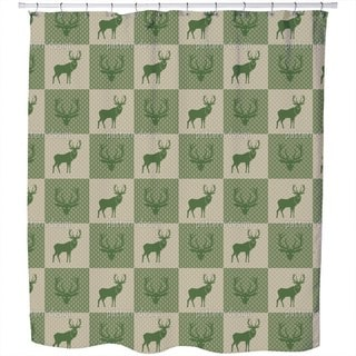 The Forest King Green Shower Curtain