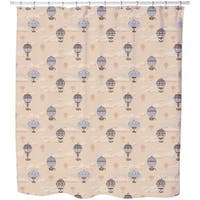 The Balloon Voyage of The Montgolfier Brothers Shower Curtain