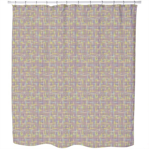 Textus Brown Shower Curtain