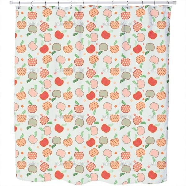 Tasty Apple Patchwork Shower Curtain