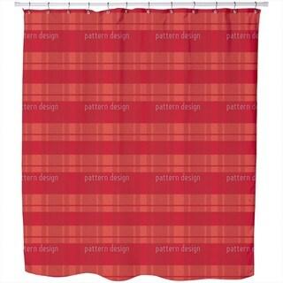 Tartan Red Shower Curtain
