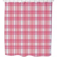 Tartan Pink Shower Curtain
