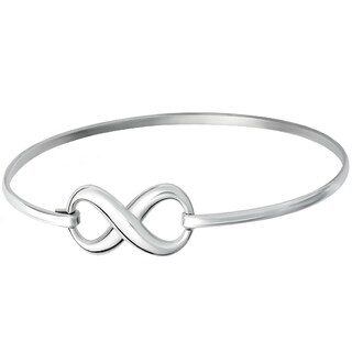 GIG Jewels Sterling Silver Infinity Symbol 6.5 inches Fashion Bangle Bracelet