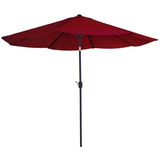 Pure Garden 10 Foot Red Aluminum Patio Umbrella With Auto Tilt