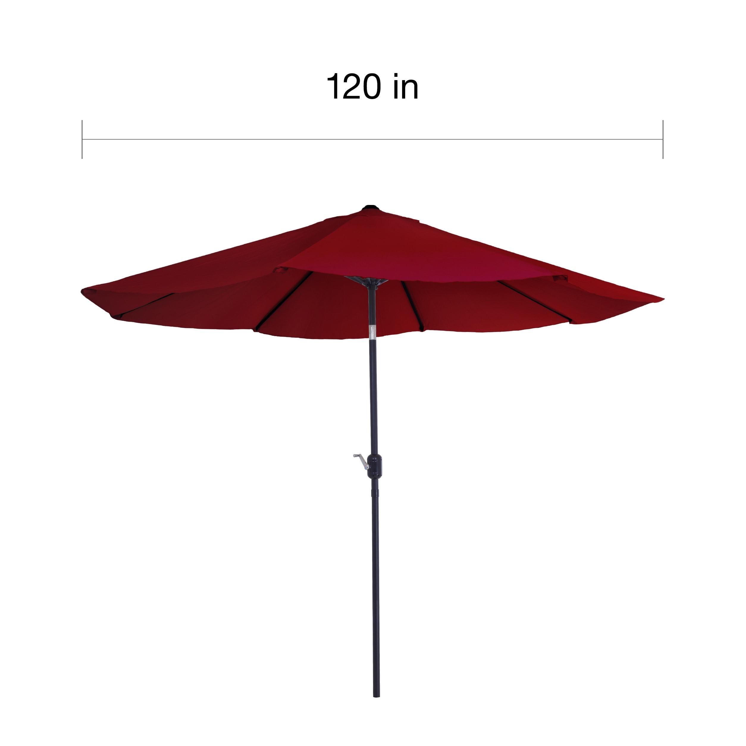 10 Foot Red Aluminum Patio Umbrella