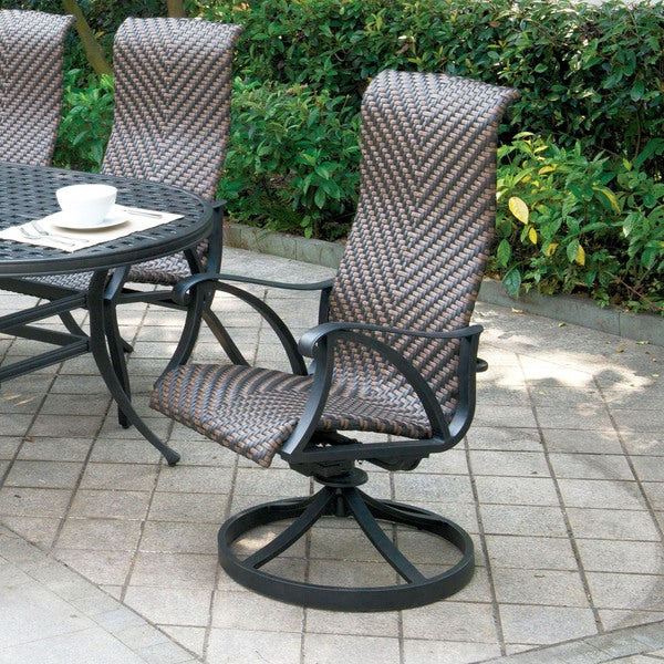 Furniture Of America Camille Outdoor Wicker Inspired Rocking Chair Set Of 2 Free Shipping