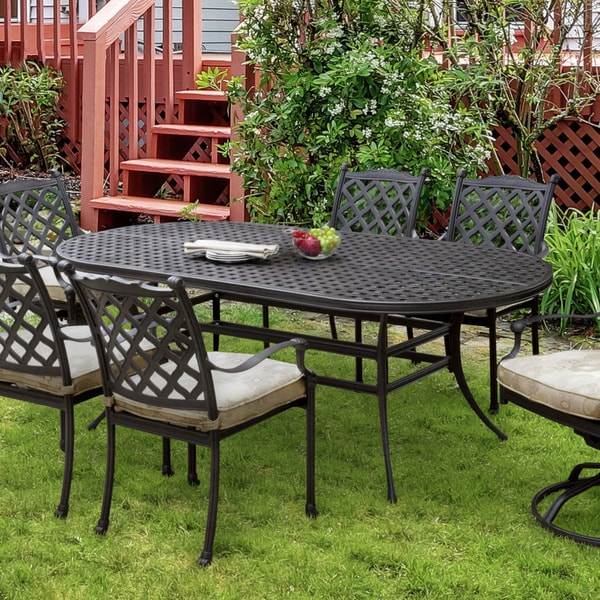 Furniture of America Camille Black Outdoor Dining Table