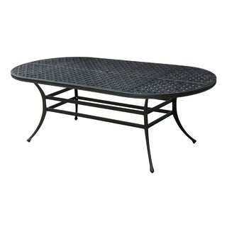 Furniture of America Camille Outdoor Oval Metal Dining Table
