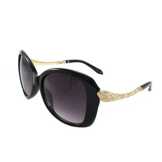 Fashion Sunglasses with Metal Accent Temple