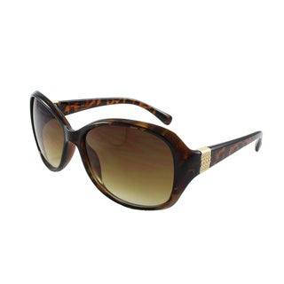Women's Fashion Plastic Sunglasses with Accent Temple