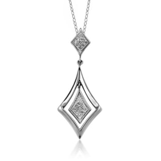 Jewelonfire Sterling Silver 1/20ct TDW White Diamond Pendant ( I2-I3)