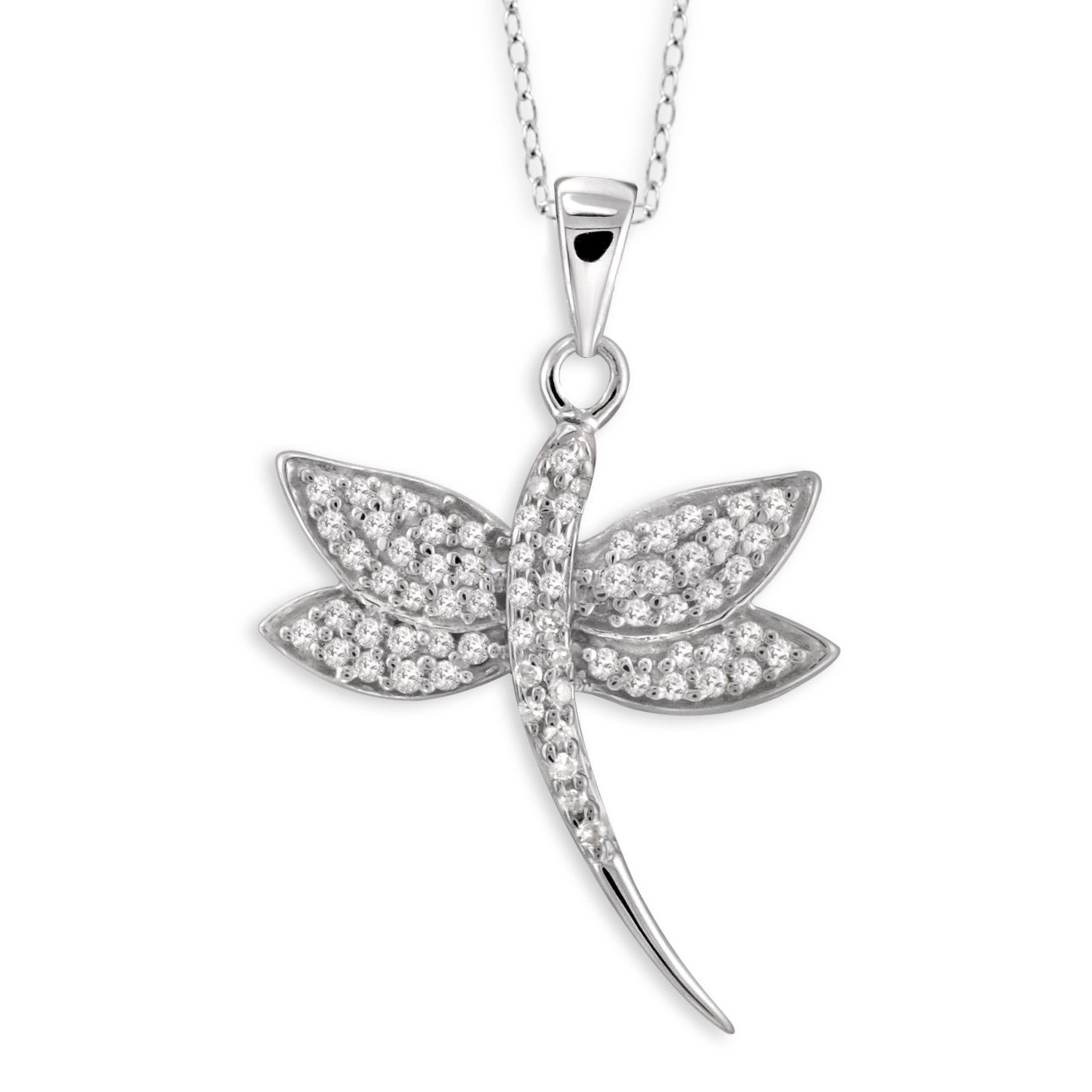 Jewelonfire Sterling Silver 1/4ct TDW White Diamond Butte...