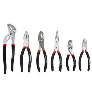 Stalwart 6-piece Utility Plier Set with Storage Pouch