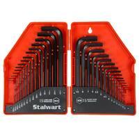 Stalwart 30-piece Hex Key Wrench Set - Combo SAE & Metric