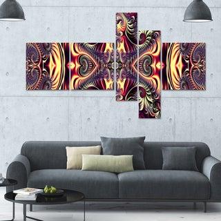 Designart 'Brassy Flow' 63x36 Contemporary Canvas Art - 5 Panels
