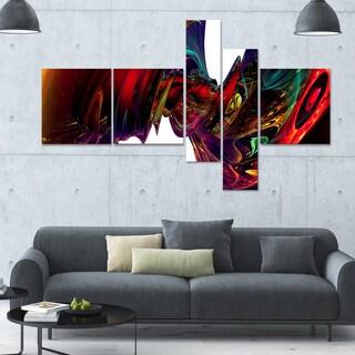 Designart 'Into the Center' 63x36 Contemporary Canvas Art - 5 Panels