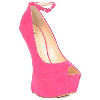 Giuseppe Zanotti Pink Suede Platform Heel Sandals