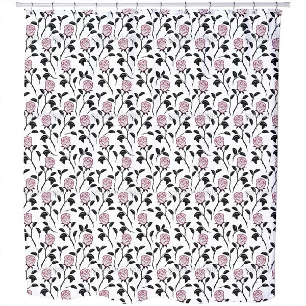 Snow White Roses Shower Curtain