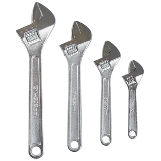 Stalwart 4-piece Adjustable Wrench Set with Storage Pouch