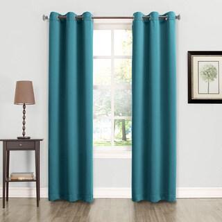 Sun Zero Talisha Solid Polyester Grommet Modern Room Darkening Window Curtain Panel (More options available)