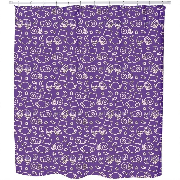 Shop Sleepy Cats Shower Curtain