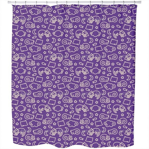 Sleepy Cats Shower Curtain