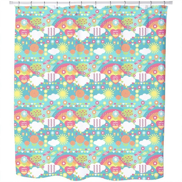 Shop Sweet Candy Shower Curtain