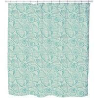 Shellfish Aqua Shower Curtain