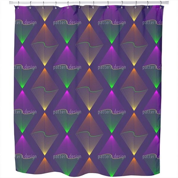 Purple Lanterns Shower Curtain