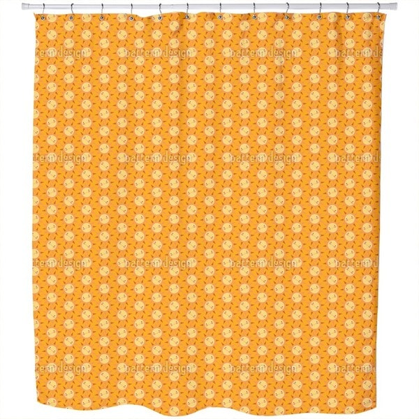 Sunny Funny Shower Curtain