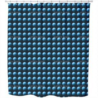 Press The Blue Button Shower Curtain