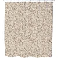 Seashells Sand Shower Curtain