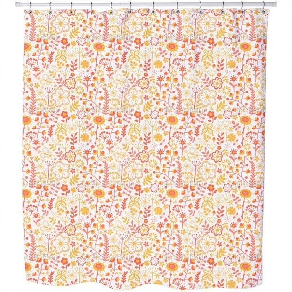 Summer Flowers At Dawn Shower Curtain