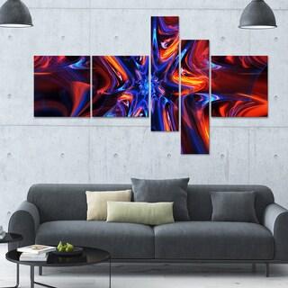 Designart 'Kaleidoscope' 63x36 Large Abstract Wall Art - 5 Panels