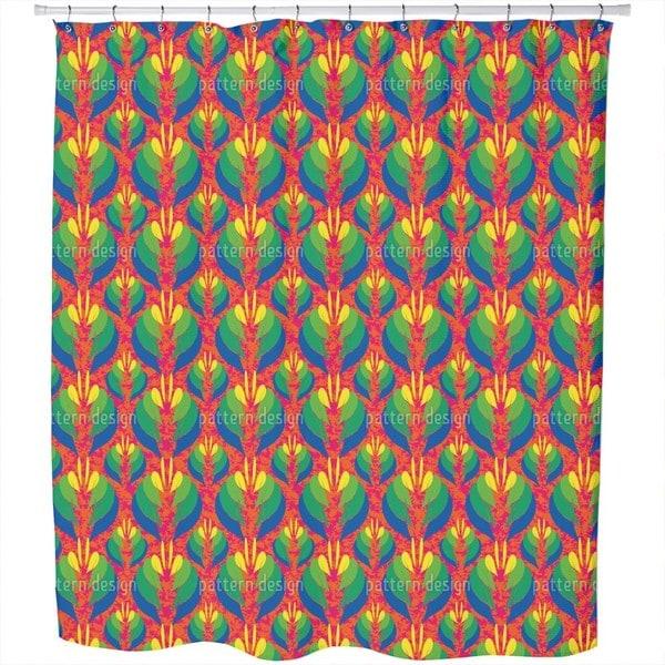 Poptanica Flowers Shower Curtain