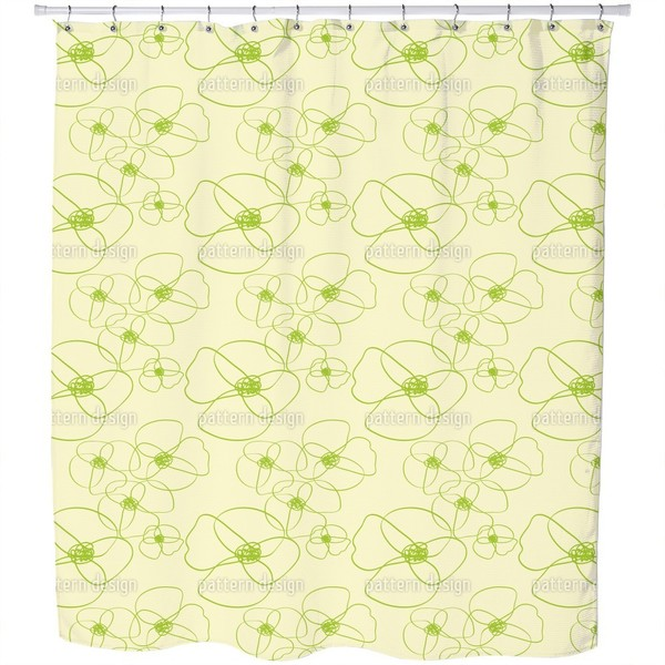 Poppy Scribble Shower Curtain