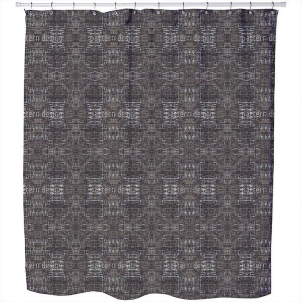 Stroke Weave Shower Curtain