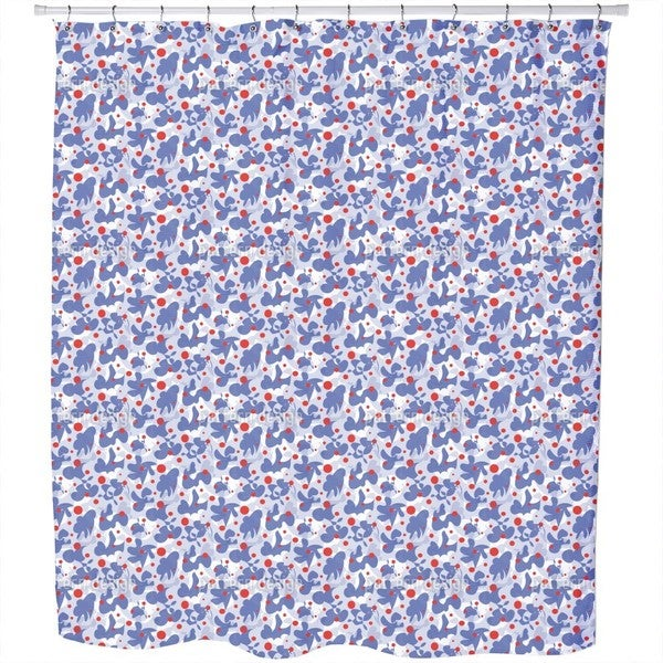 Scribble and Dots Shower Curtain
