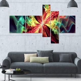 Designart 'Hypnotize Multi' 63x36 Large Abstract Wall Art - 5 Panels