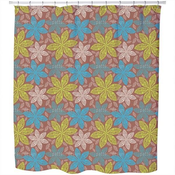 Polynesian Flora Shower Curtain