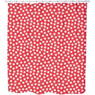Striped Polkadots Shower Curtain