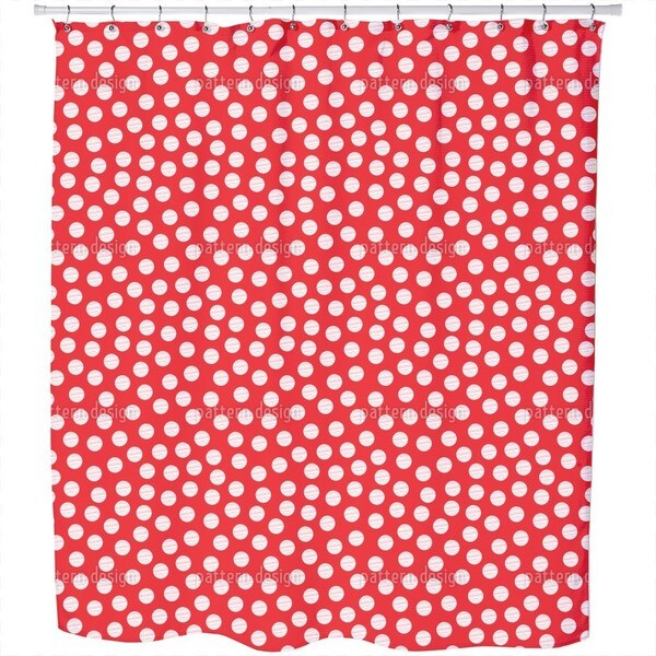 Striped Polkadots Shower Curtain
