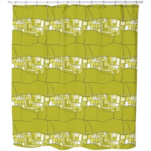 Stilismo Green Shower Curtain