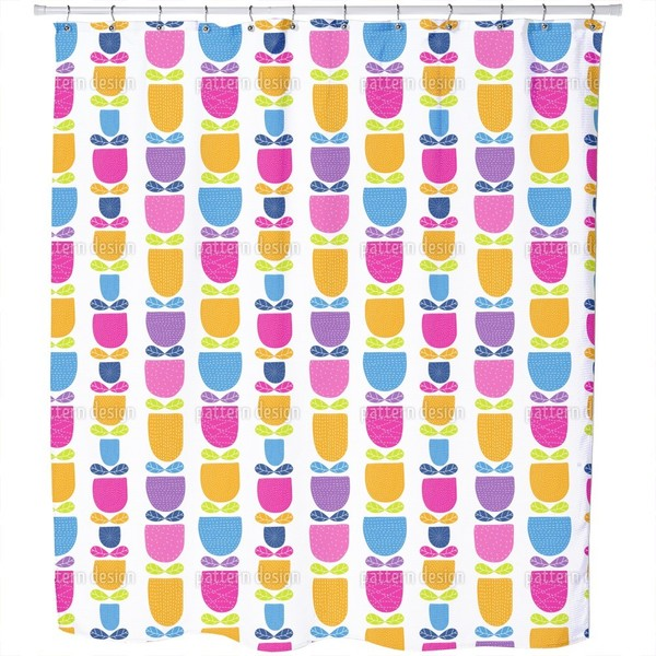 Stitched Tulips Shower Curtain