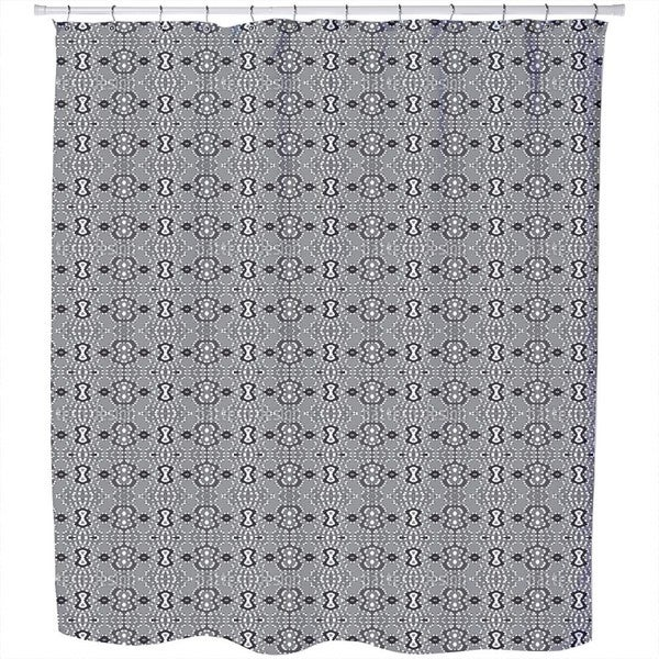 Pixel Folklore Shower Curtain