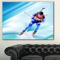 Designart 'Extreme Male Skier' Portrait Digital Art Canvas Art Print