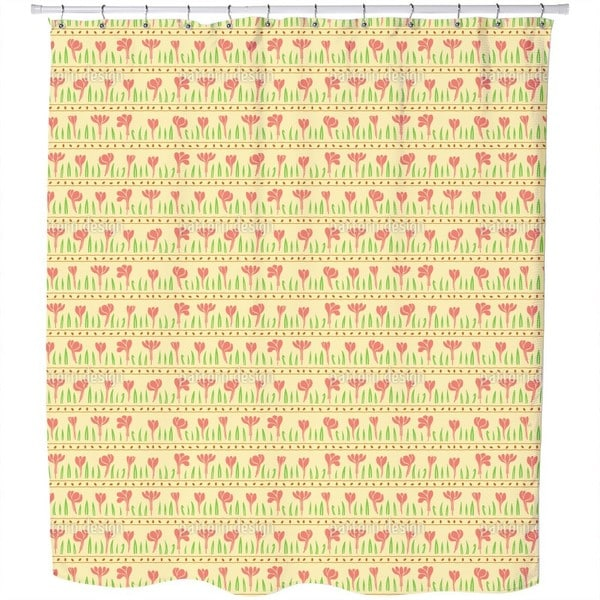 Rows of Plants Shower Curtain