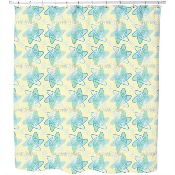 Rounded Stars Shower Curtain