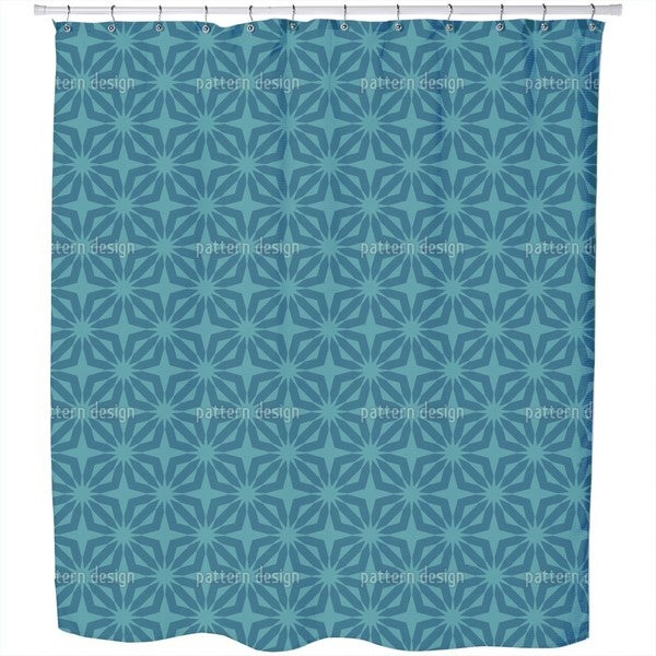 Stella Blue Shower Curtain