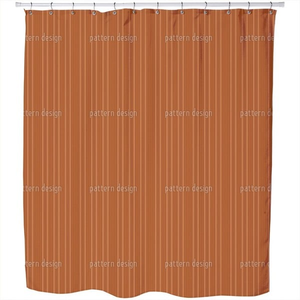 Pinstripes in Caramel Shower Curtain